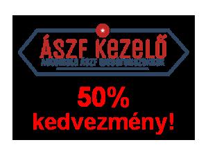 ÁSZF-Kezelő Rendszer - 50% kedvezmény