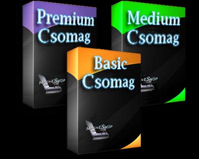 Webáruház csomagok és árak